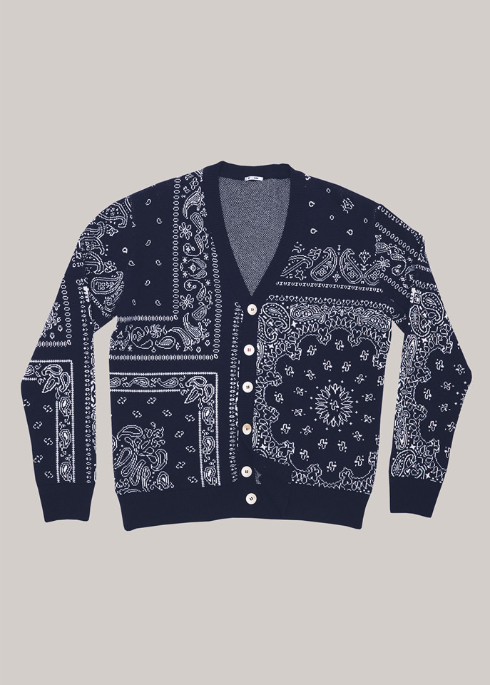 HOLUBAR: HOLUBAR IN THE BOX KERCHIEF PRINT CARDIGAN