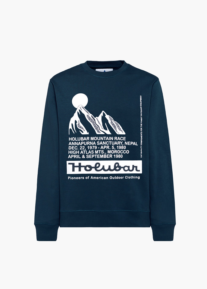 HOLUBAR: MOUNTAIN RACE BF12 BLUE SWEATSHIRT