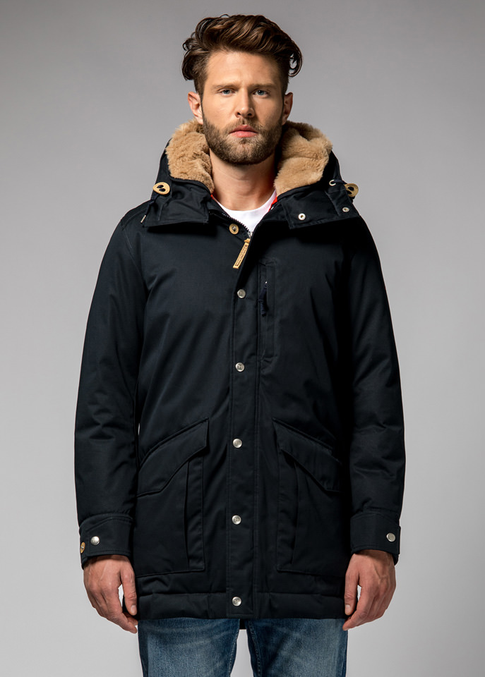 HOLUBAR: ALCAN LI77 PARKA JACKET COLOR DARK BLUE