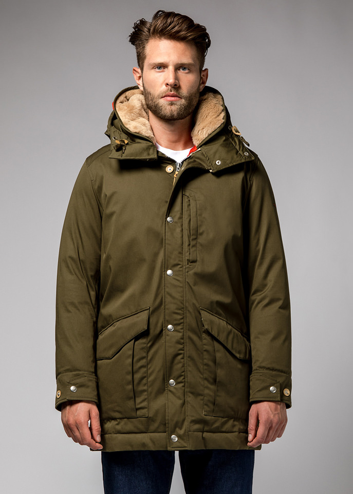 HOLUBAR: ALCAN LI77 PARKA JACKET COLOR MILITARY GREEN