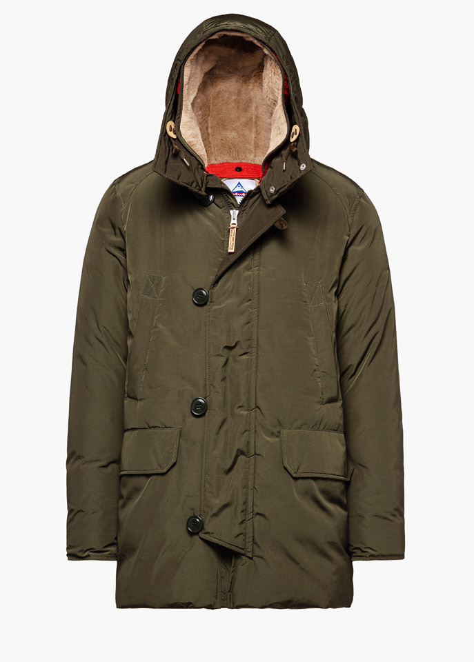 HOLUBAR: BOULDER LATITE NP23 PARKA JACKET COLOR GREEN