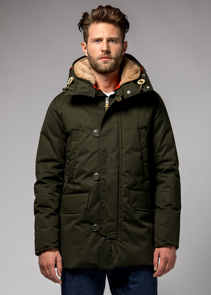 HOLUBAR: BOULDER LI77 PARKA JACKET COLOR GREEN