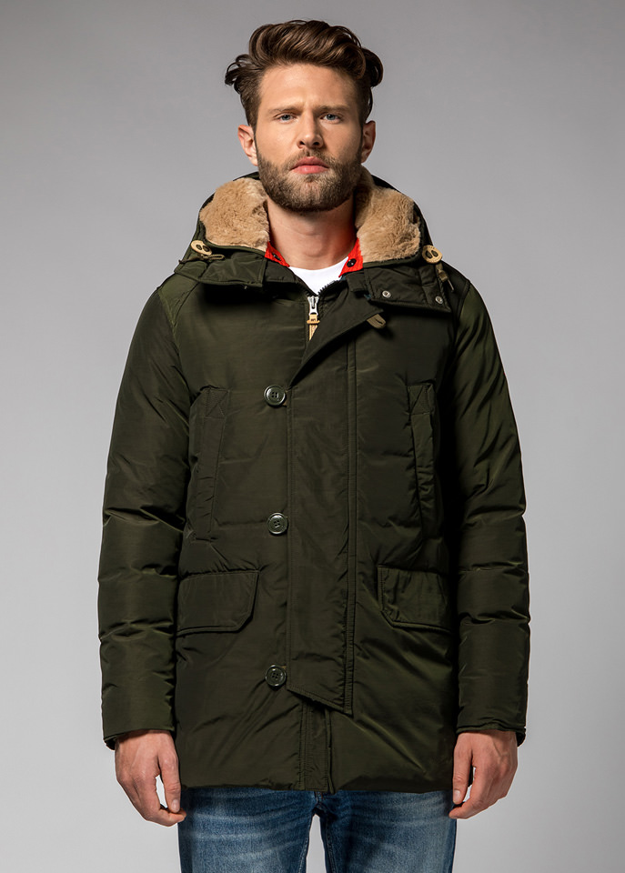 HOLUBAR: BOULDER NP23 PARKA JACKET COLOR GREEN