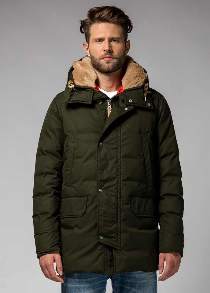 HOLUBAR: BOULDER SNAPS HA12 PARKA COLOR GREEN