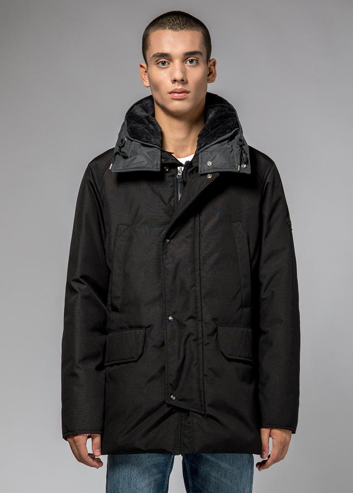 HOLUBAR: BOULDER SNAPS PARKA JACKET RC30 COLOR BLACK
