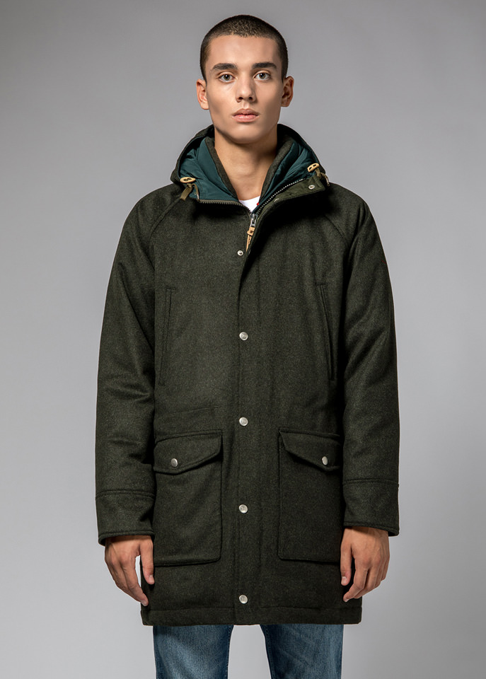 HOLUBAR: DEER HUNTER LONG PARKA JACKET LO20 COLOR GREEN