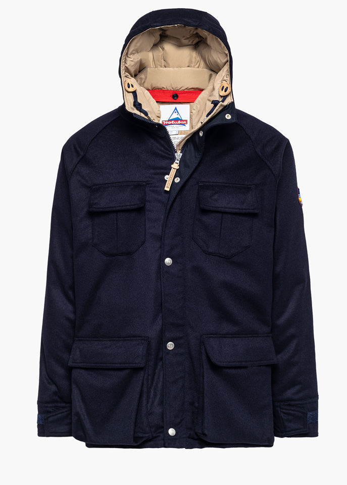 HOLUBAR: DEER HUNTER LO20 MAISON KITSUNE PARKA JACKET COLOR BLUE