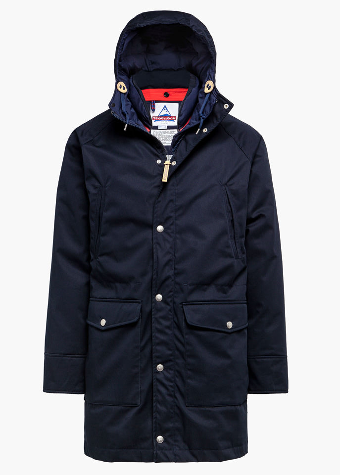 HOLUBAR: DEER HUNTER LONG LI77 MAISON KITSUNE PARKA JACKET COLOR BLUE
