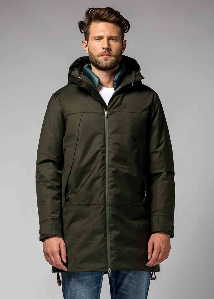 HOLUBAR: DISCOVER PW90 PARKA JACKET COLOR GREEN