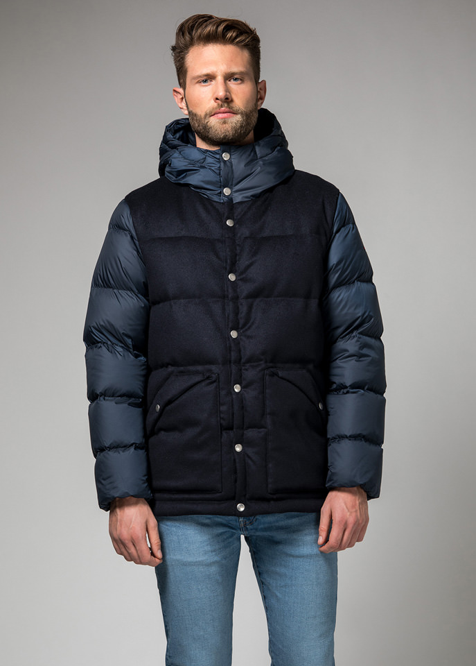 HOLUBAR: DEEP POWDER LB30 DOWN JACKET COLOR DARK BLUE