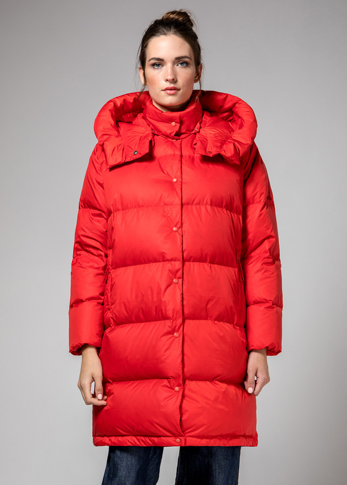 HOLUBAR: RED MUSTANG BU15 LONG DOWN JACKET