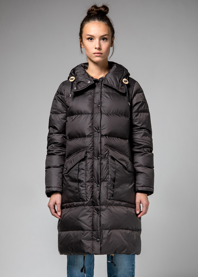HOLUBAR: GRAY  MONTANA  BU15  DOWN  JACKET