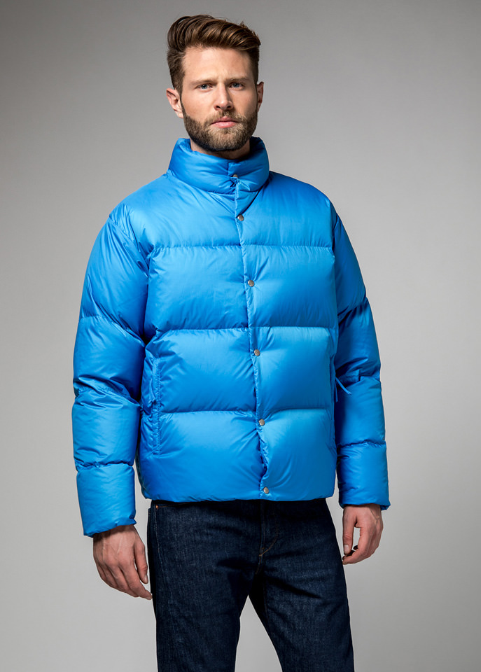 HOLUBAR: MUSTANG BU15 DOWN JACKET COLOR LIGHT BLUE