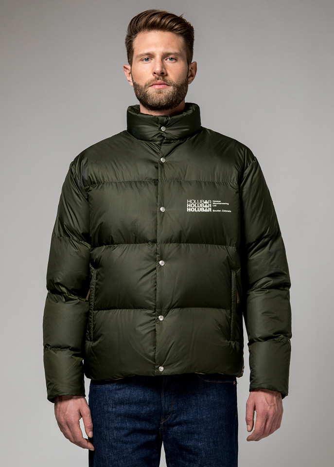 HOLUBAR: MUSTANG BU15 DOWN JACKET COLOR DARK GREEN