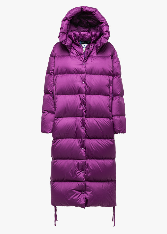 HOLUBAR: MUSTANG EXTRA LONG BU15 DOWN JACKET COLOR PURPLE