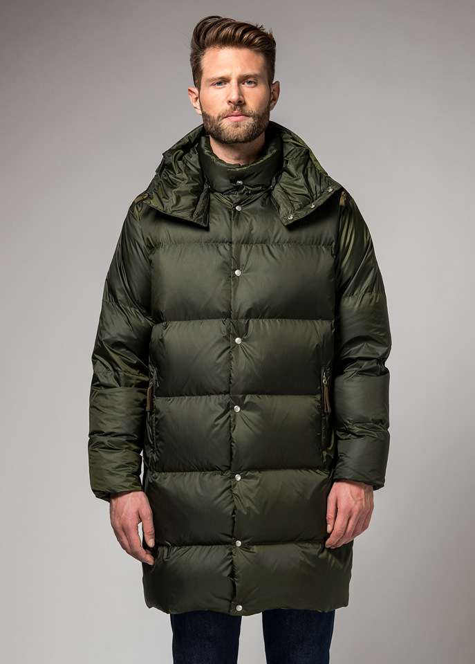 HOLUBAR: MUSTANG LONG BU15 DOWN JACKET COLOR DARK GREEN
