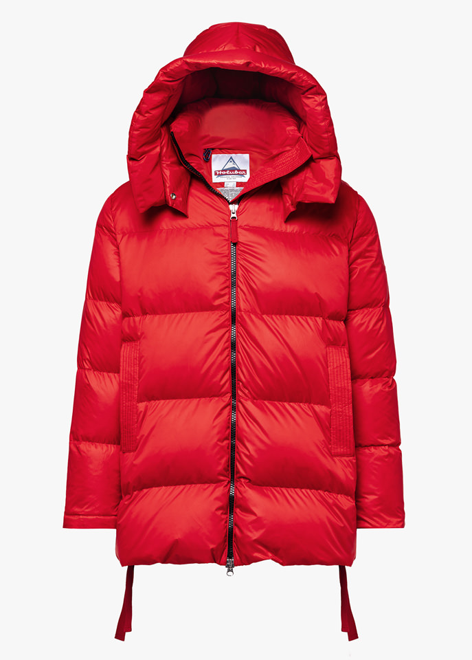 HOLUBAR: MUSTANG MID BU15 DOWN JACKET COLOR RED