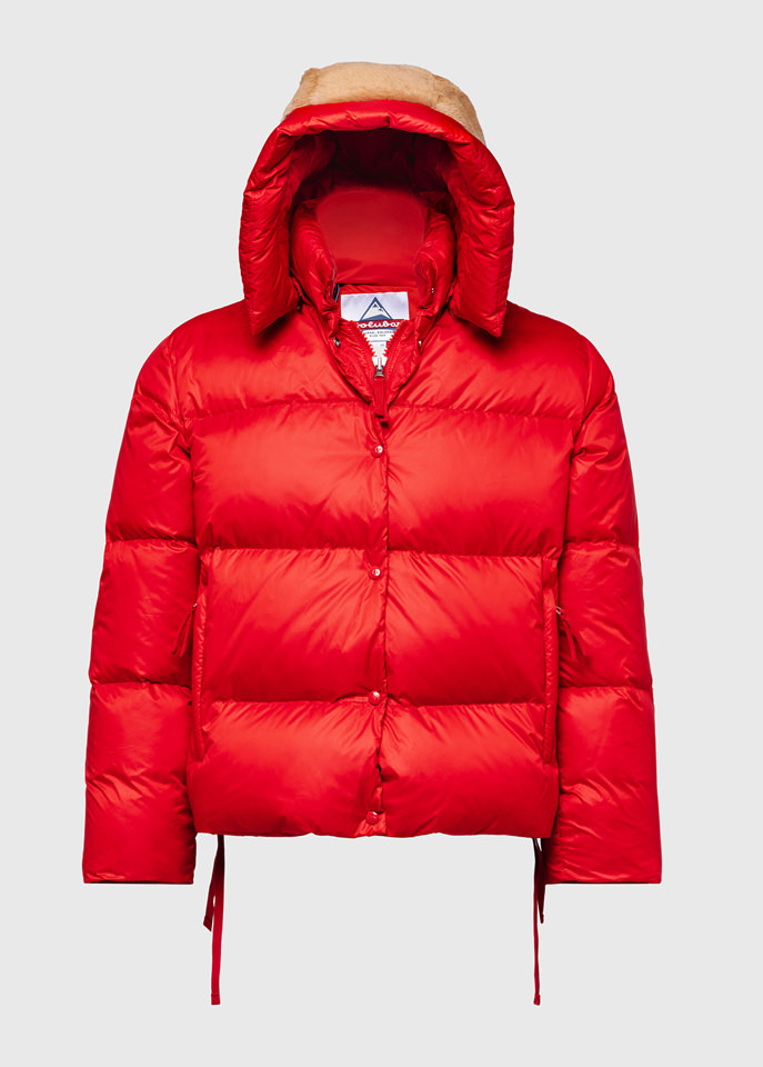 HOLUBAR: PUNKY MUSTANG BU15 DOWN JACKET COLOR RED