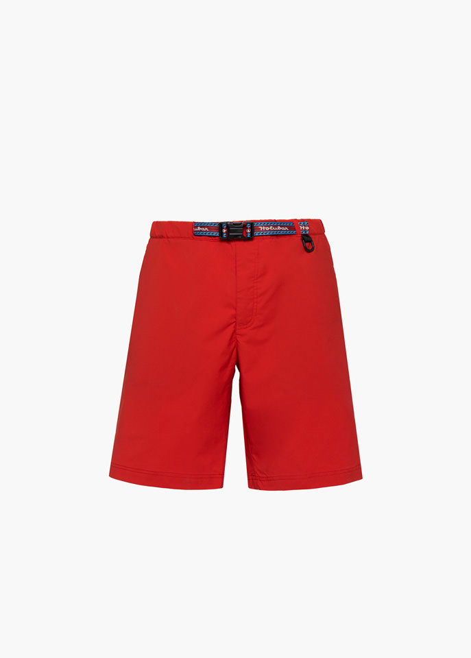 HOLUBAR: TRAVELLER PY20 SHORTS COLOR RED