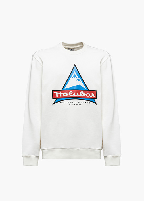 HOLUBAR JJ20 LOGO SWEATSHIRT COLOR WHITE