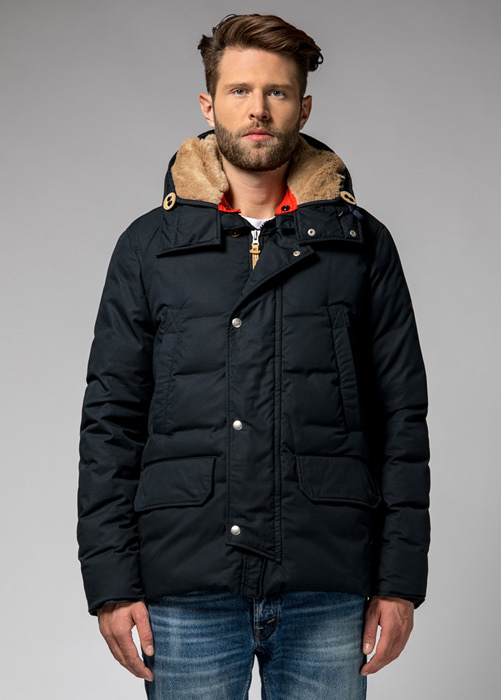 HOLUBAR: SHORT BOULDER HA12  JACKET COLOR DARK BLUE