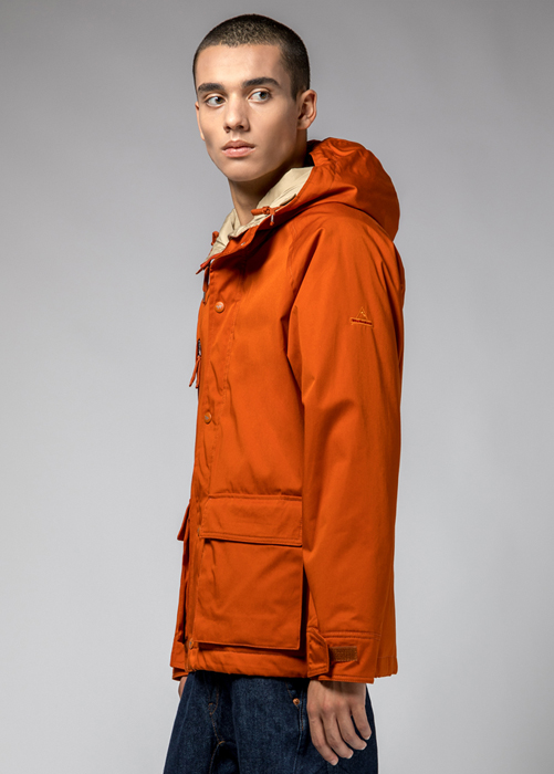 HOLUBAR: SHORT HUNTER JACKET LI77 COLOR DARK ORANGE