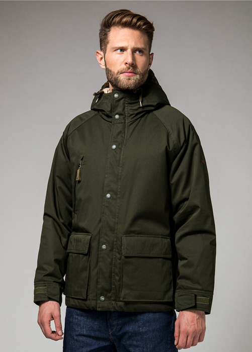 HOLUBAR: SHORT HUNTER JACKET LI77 COLOR GREEN
