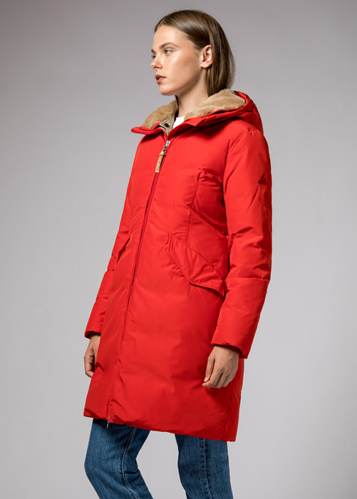 HOLUBAR: VERMILION NP23 PARKA JACKET COLOR RED
