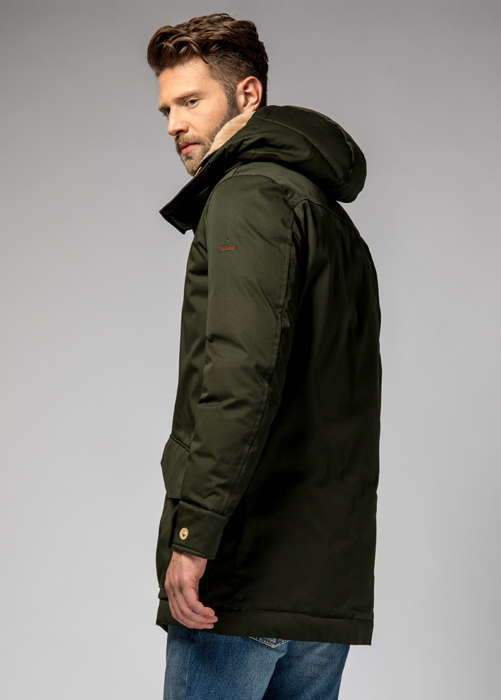 HOLUBAR: ALCAN LI77 PARKA JACKET COLOR GREEN