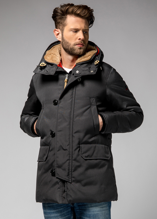 HOLUBAR BOULDER SNAPS PARKA JACKET RC30 COLOR BLACK