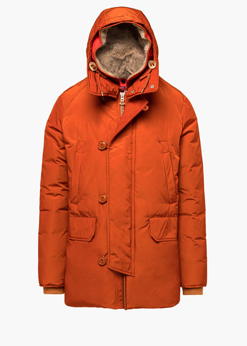 HOLUBAR: BOULDER LATITE NP23 PARKA JACKET COLOR ORANGE