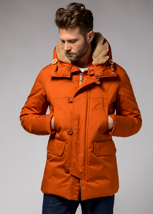HOLUBAR BOULDER LI77 PARKA JACKET COLOR ORANGE