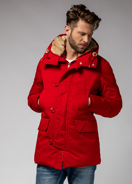 HOLUBAR: BOULDER LI77 PARKA JACKET COLOR RED