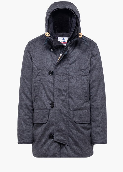 HOLUBAR: MIX LO20 PARKA JACKET BOULDER COLOR GRAY