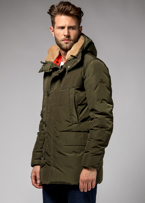 HOLUBAR: BOULDER NP23 PARKA JACKET COLOR MILITARY GREEN