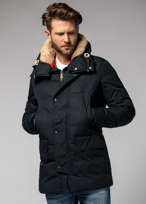 HOLUBAR BOULDER SNAPS HA12  PARKA COLOR DARK BLUE