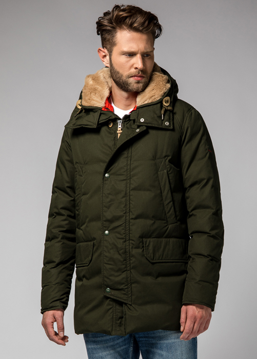 HOLUBAR BOULDER SNAPS HA12 PARKA COLOR GREEN
