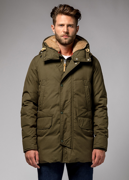 HOLUBAR BOULDER SNAPS HA12  PARKA COLOR MILITARY GREEN