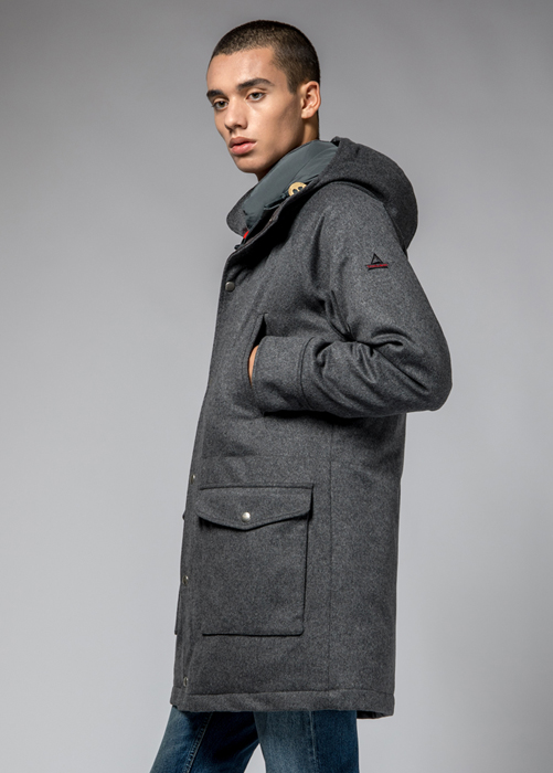 HOLUBAR: DEER HUNTER LONG PARKA JACKET LO20 COLOR GRAY