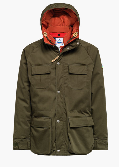 HOLUBAR DEER HUNTER LI77 MAISON KITSUNE DIFFERENT LINING PARKA JACKET COLOR GREEN