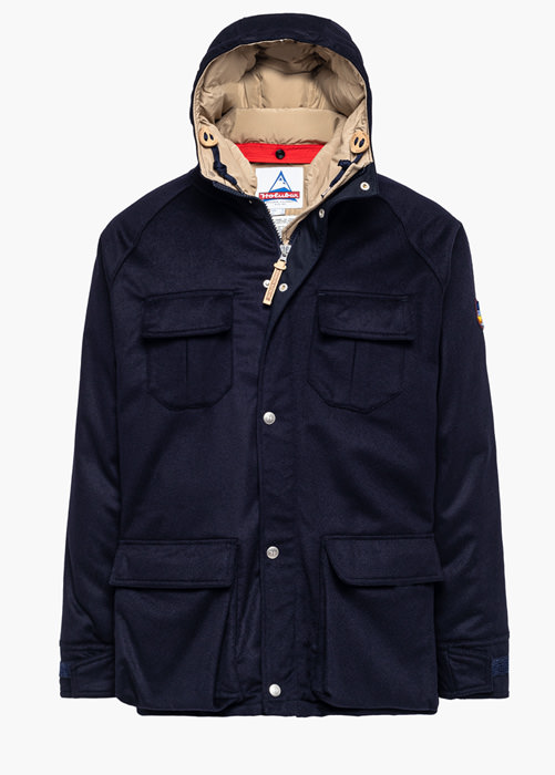 HOLUBAR DEER HUNTER LO20 MAISON KITSUNE PARKA JACKET COLOR BLUE
