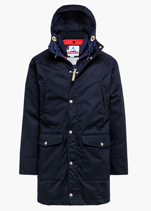 HOLUBAR DEER HUNTER LONG LI77 MAISON KITSUNE PARKA JACKET COLOR BLUE
