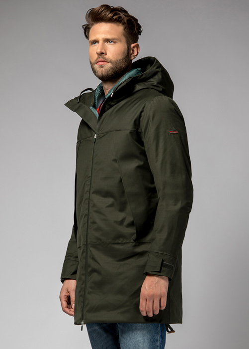 HOLUBAR DISCOVER PW90 PARKA JACKET COLOR GREEN