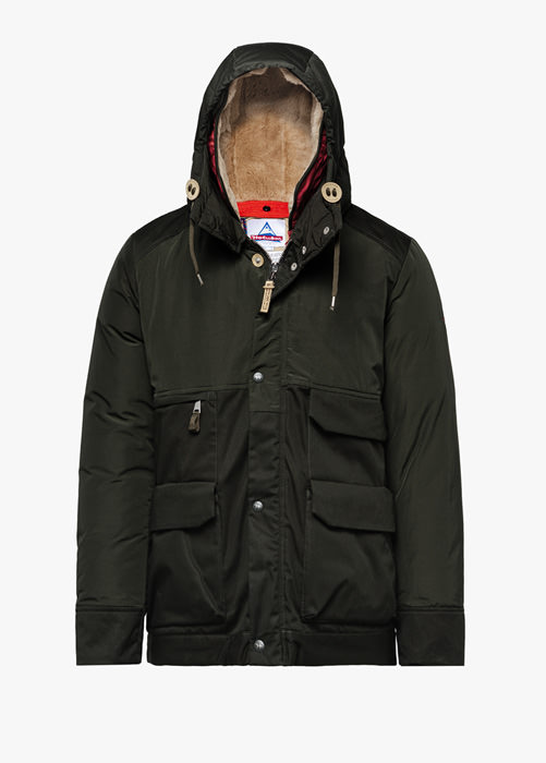 HOLUBAR: METRO MOUNTAIN NL27 PARKA JACKET COLOR GREEN