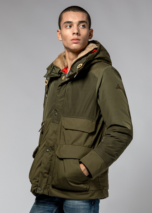 HOLUBAR: METRO MOUNTAIN PARKA JACKET NL27 COLOR HUNTER GREEN