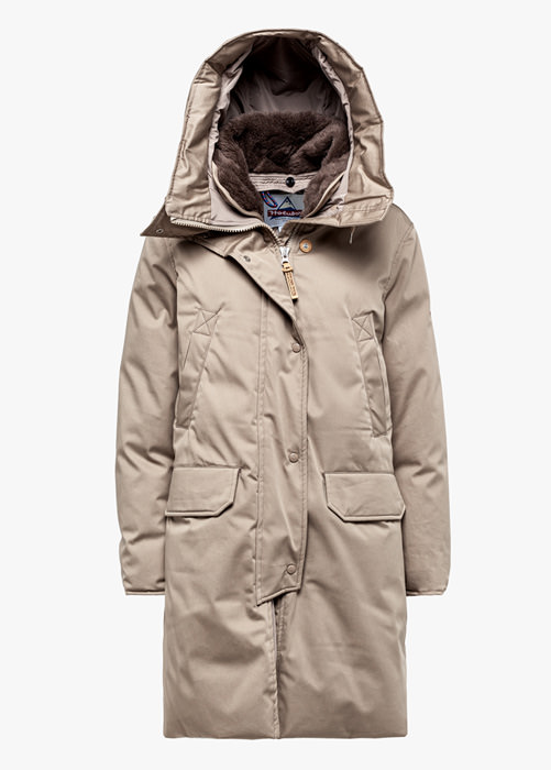 NEW BOULDER LI77 PARKA JACKET COLOR BEIGE