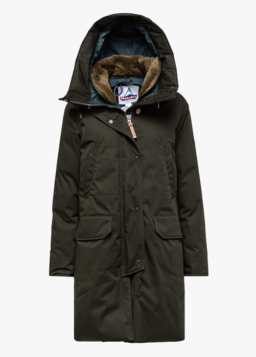 HOLUBAR NEW BOULDER LI77 PARKA JACKET COLOR GREEN