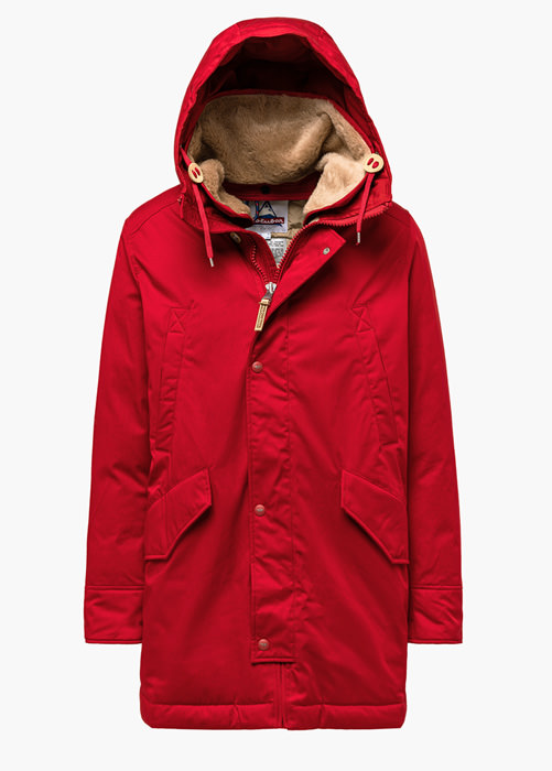 HOLUBAR: SUN VALLEY LI77 PARKA JACKET COLOR RED