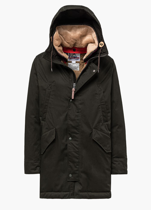 HOLUBAR: SUN VALLEY LI77 PARKA JACKET COLOR GREEN