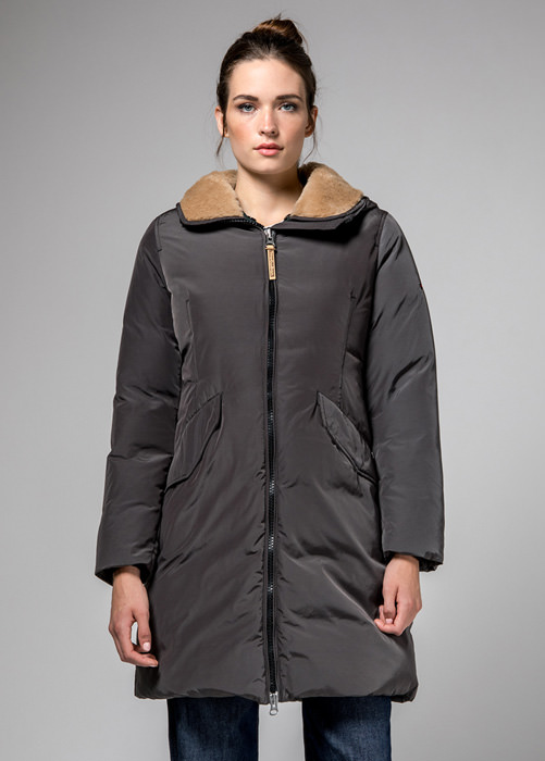 HOLUBAR: VERMILION NP23 PARKA JACKET COLOR GREY